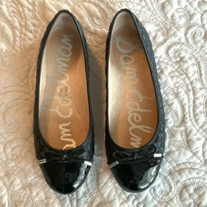 Sam Edelman Quilted Leather Bow Ballet Flats